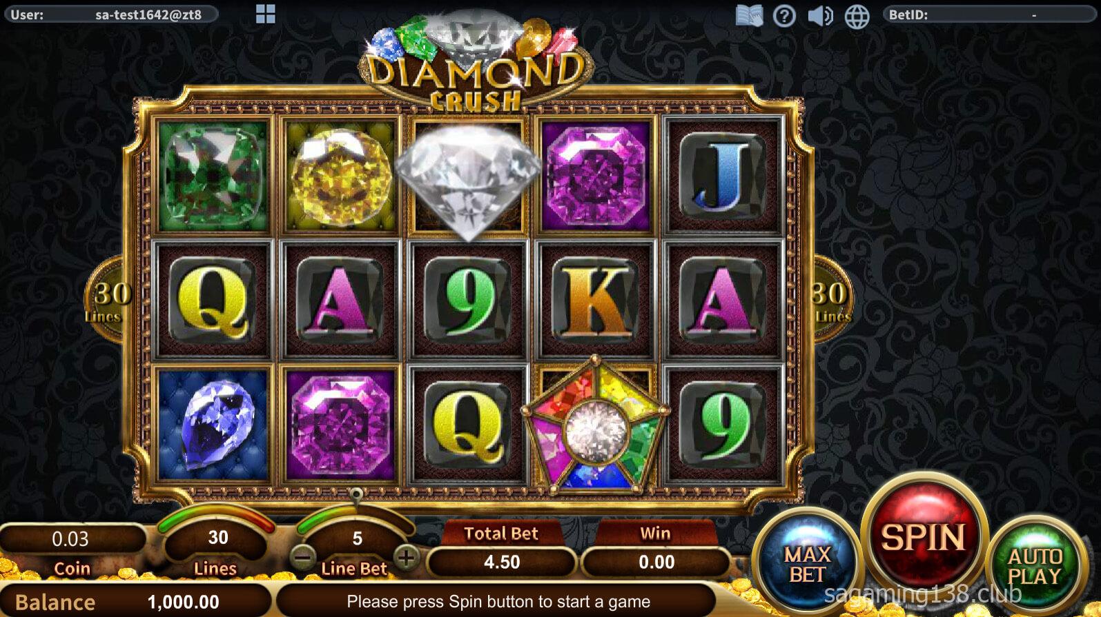 Diamond Crush เกมสล็อตออนไลน์ – SA Gaming