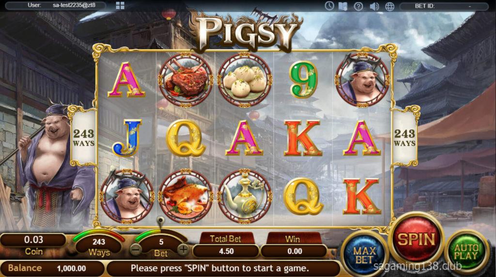เกมออนไลน์สล็อตของ Pigsy 2 SA Gaming คาสิโนออนไลน์ที่ดีที่สุด